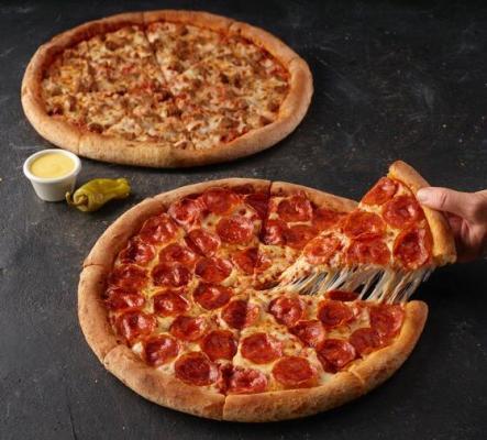 50 % Rabatt für die 2. Pizza (M)