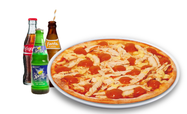 Pizza Bombay Solo + Softdrink<sup>K,F</sup>