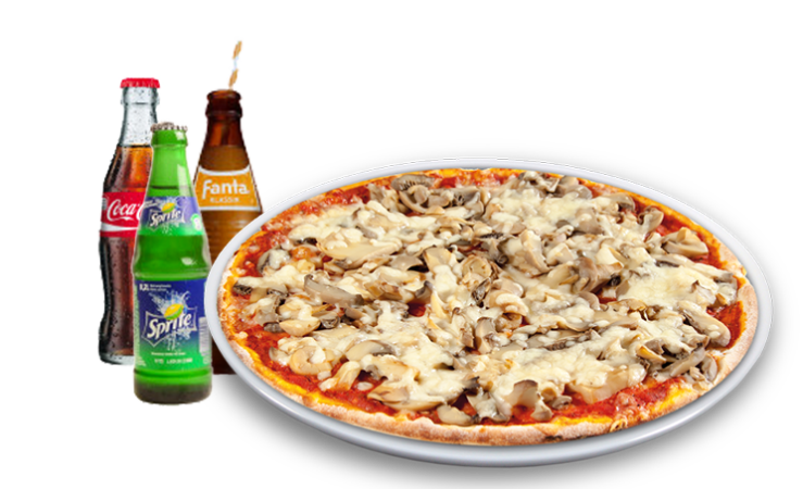 Pizza Ohio Solo + Softdrink<sup>A,F</sup>
