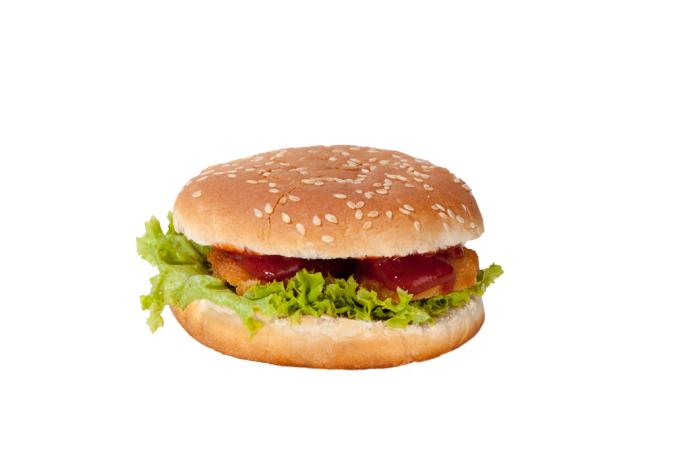 Burger Planet Chicken Nugget Burger