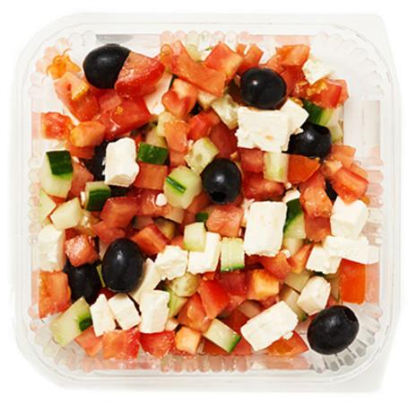 Griechischer Salat ohne Dressing