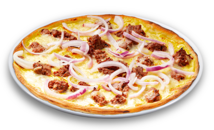Pizza grobe Leberwurst Family 40 cm<sup>F</sup>