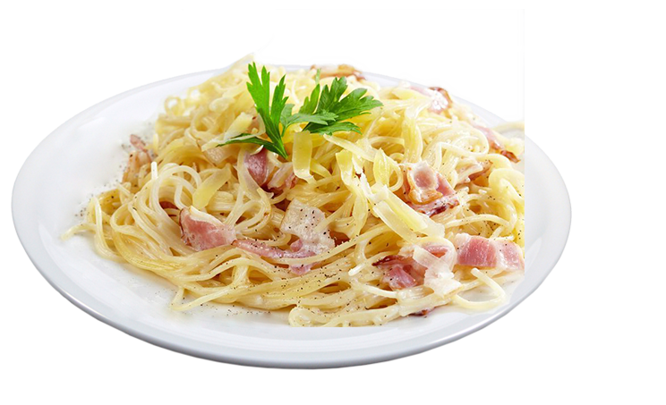 Spaghetti mit Carbonarasauce<sup>F,A,K</sup>