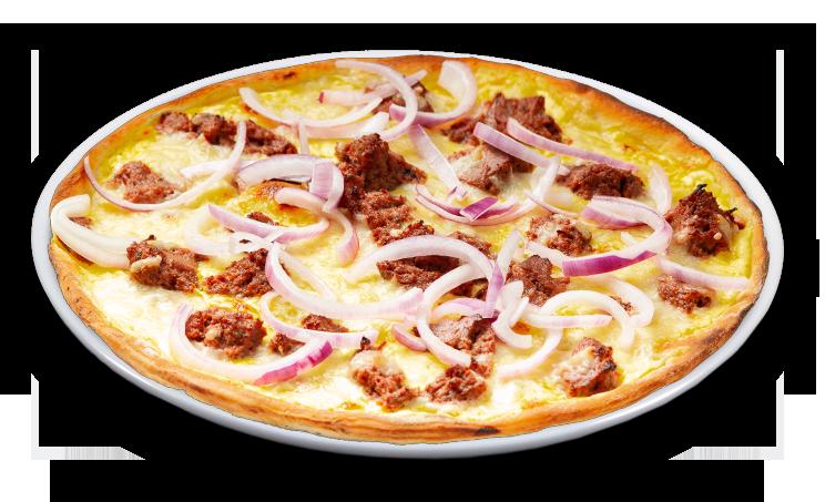 Pizza grobe Leberwurst