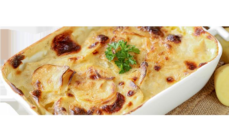 Kartoffelgratin mit Schinken und Brokkoli<sup>A,K,G,P,F,St</sup>