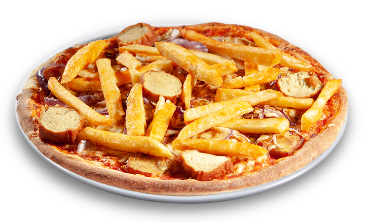 Pizza Currywurst & Pommes