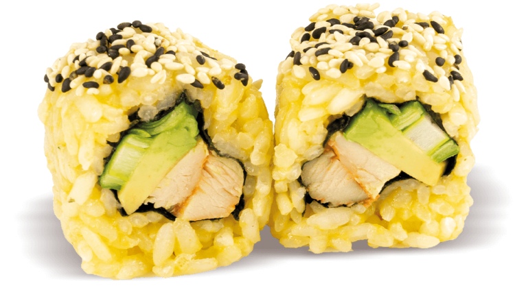 Curry Chicken Avocado Roll - 8 Stück