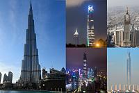 Burj Khalifa in Dubai with the...