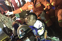 View images of rescuers after rescue...