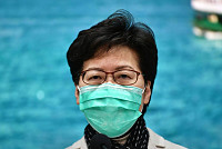 Hong Kong Mayor Carrie Lam announces...