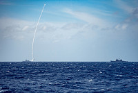 U.S. Navy Launches Live-Fire Missiles...
