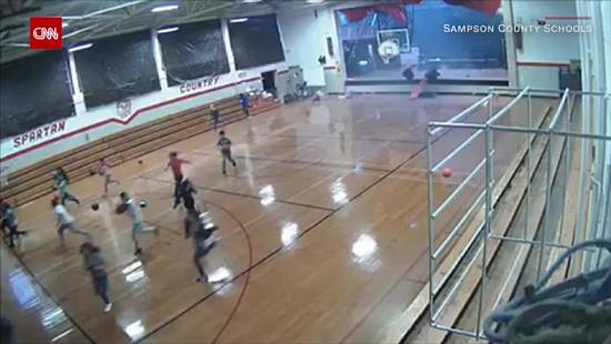 North Carolina students ran to safety...