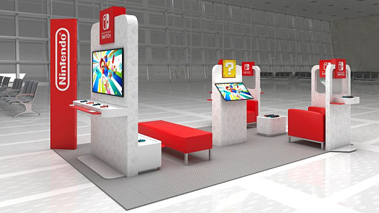 Nintendo Switch airport pop-up lounge...