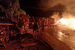 Fire erupted at a factory in Kampong...