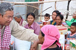 The governor of Pailin donated seven...