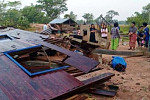 Three injured, many houses damaged by...
