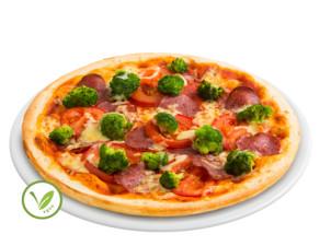 Dinkel Vollkorn Pizza Salamico vegan