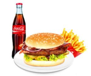 BBQ Bacon Burgermenü Giant