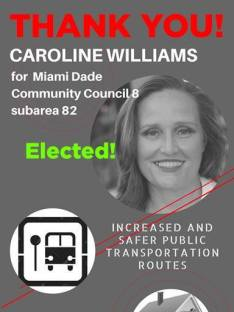 Caroline F Williams Council Miami Dade area 8 sub area 82