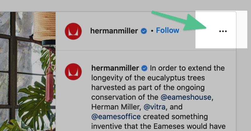 Generate a screenshot of an instagram post