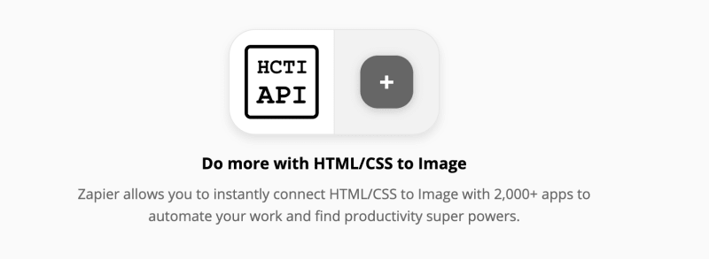 Connect html css to image with Zapier