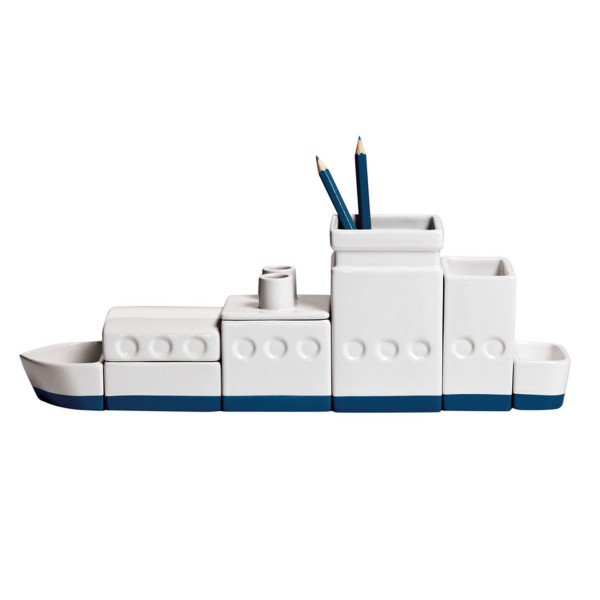 Desktructure the Ship Porcelain Desk Organizer Set