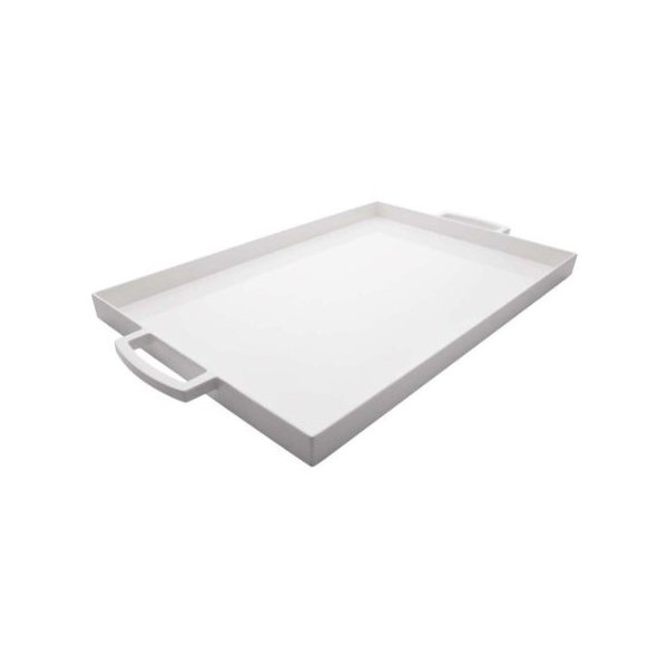 Zak Designs 17 by 11-1/2-Inch Large Rectangular Tray, White