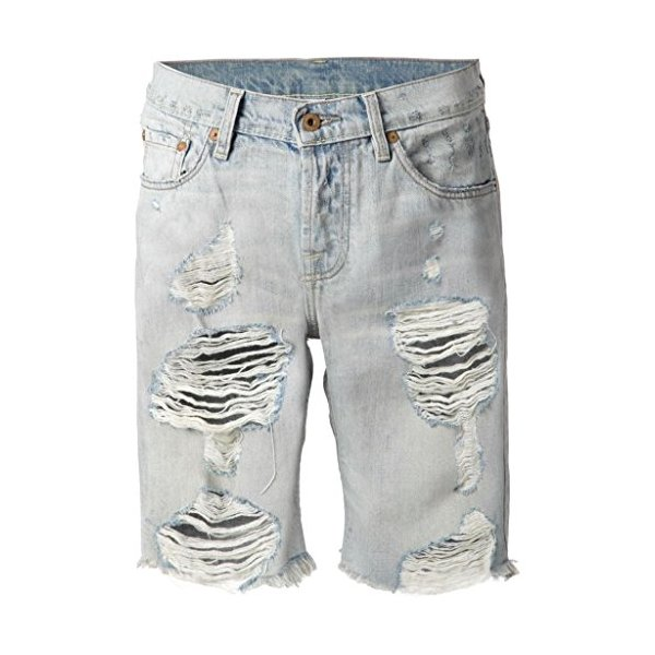 Women Jane Boyfriend Vintage Wrangler's Long Shorts Shredded Holes Mid Rise-L
