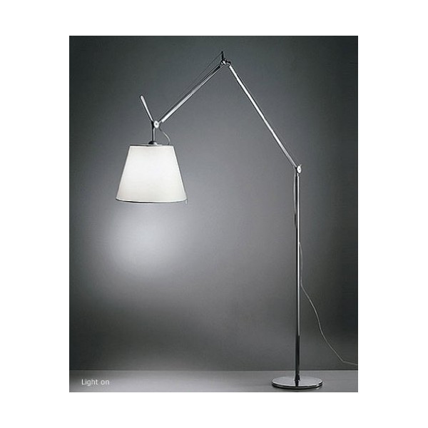"Tolomeo mega floor lamp - large 17"" (42 cm) parchment, 110 - 125V (for use in the U.S., Canada etc.)"