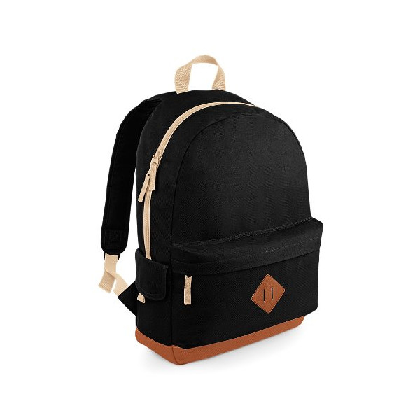 BagBase Heritage Backpack Black One