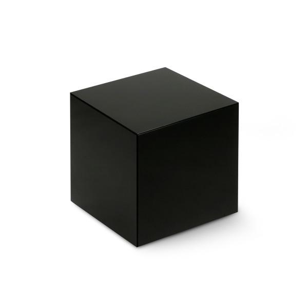 Black Agate Cube, 1 Inch