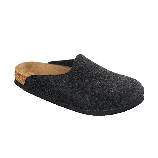 Birkenstock Classic Amsterdam Clogs. Felt upper. Made in Germany. Color Anthracite,size 38 M EU