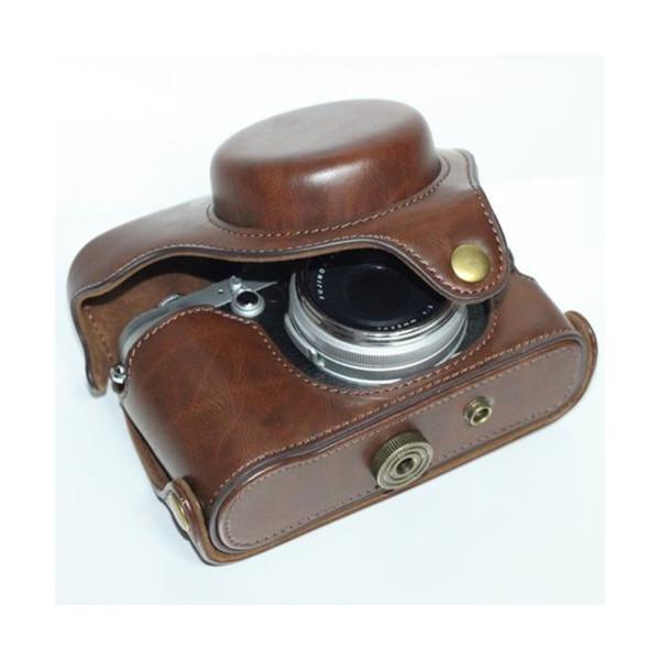 Case Premium Fujifilm Finepix X100S Brown Leather Camera Case