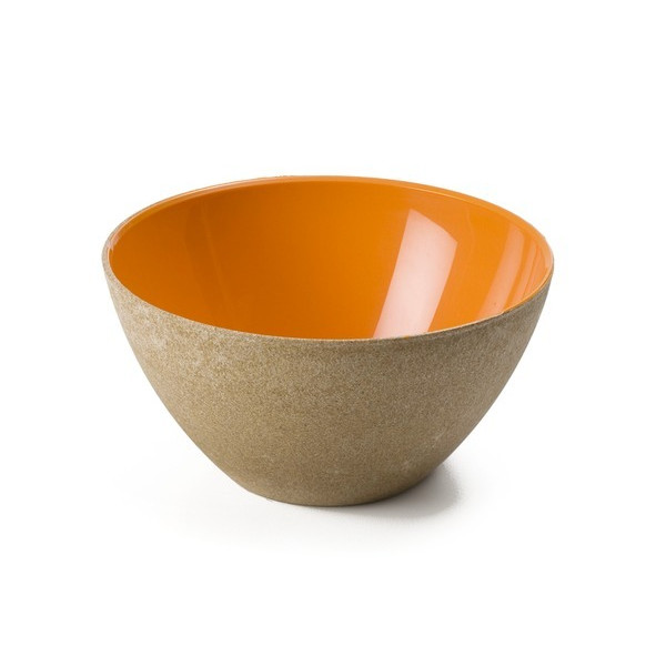 Omada Recycled Wood Large Serving Bowl, Set of 6