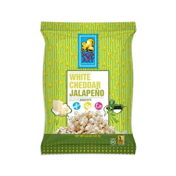 Pop Art Gourmet Popcorn White Cheddar Jalapeno -- 5 oz