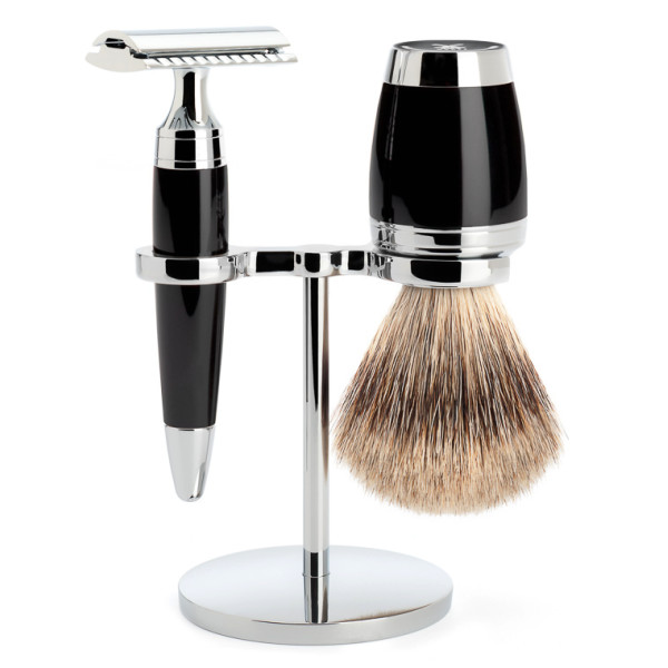 Muehle Black/Metal 4 Part Shave Kit