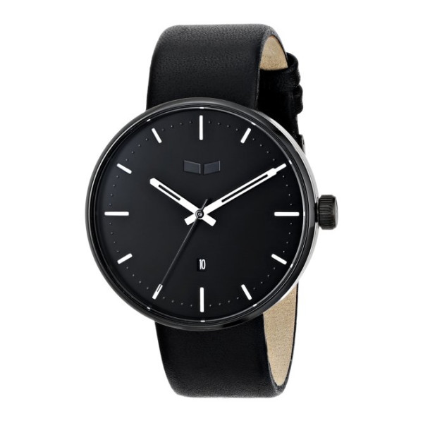 "Vestal Unisex ""Roosevelt"" Stainless Steel Watch with Leather Band"
