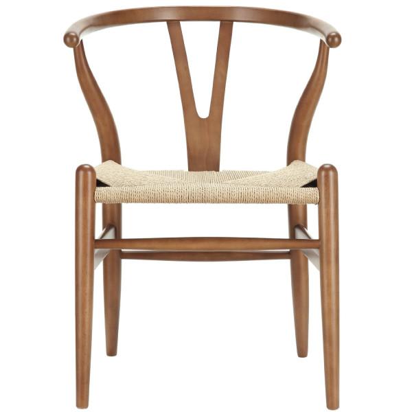 Poly and Bark Wegner Wishbone Style Chair, Walnut