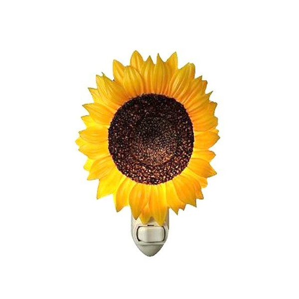 Ibis Orchid Design Sunflower Hand-Painted Nightlight