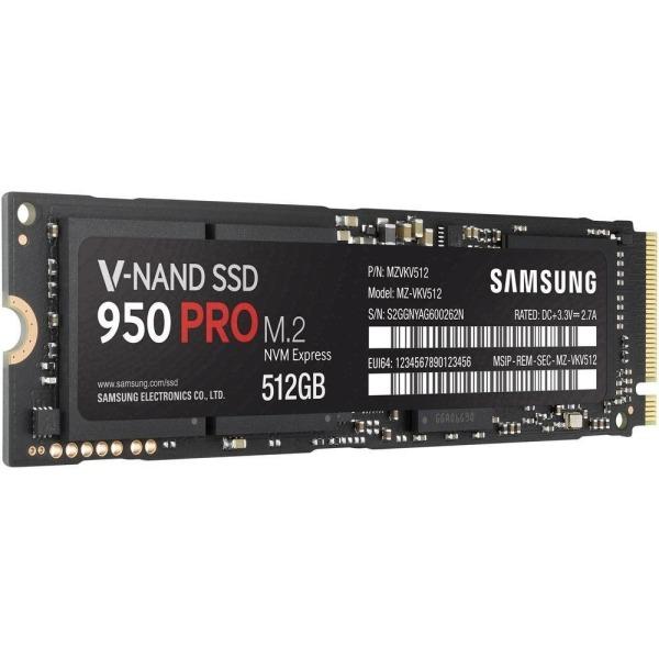 Samsung 950 PRO -Series 512GB PCIe NVMe - M.2 Internal SSD 2-Inch MZ-V5P512BW