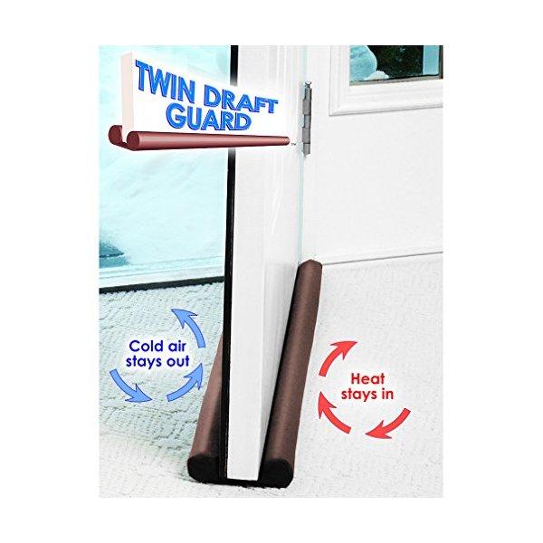 Twin Draft Guard Door/Window Energy Saving As Seen On TV (Brown)