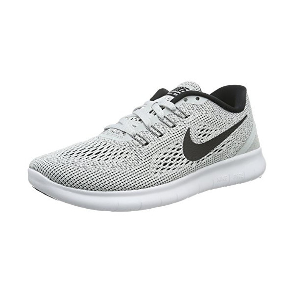Nike Women's Free RN Running Shoe White/Black/Pure Platinum 7.5