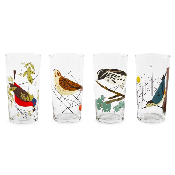 Birds Glasses, Box of 4