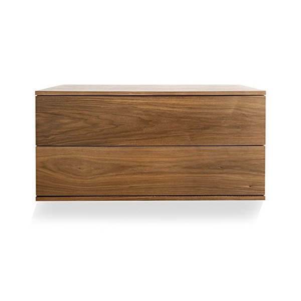 Blu Dot Wonder Wall 2 Drawer Cabinet - Walnut