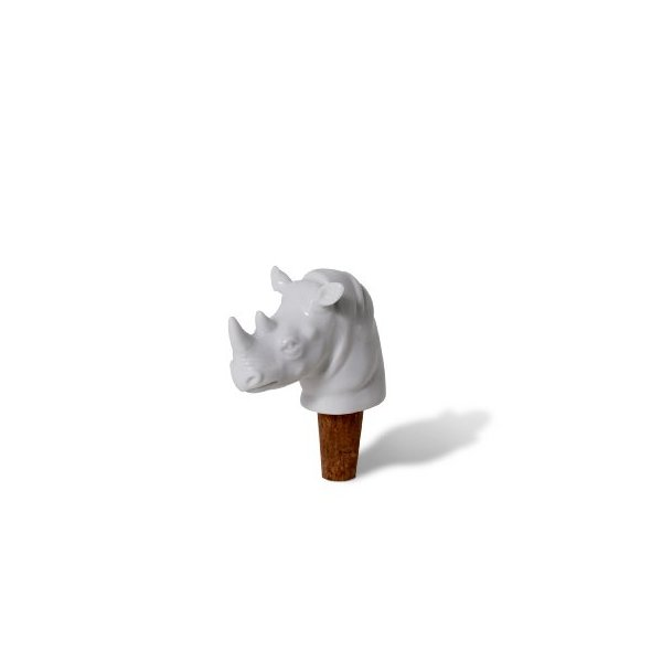 Sovereign Safari Stoppers - Rhino - Porcelain Wine Stoppers