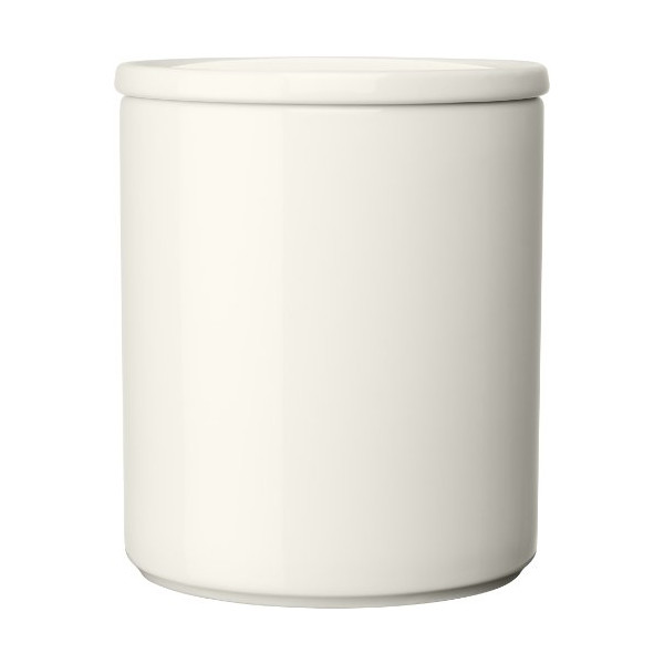 Iittala 4-3/4-Inch Ceramic Purnukka Jar with Lid, White