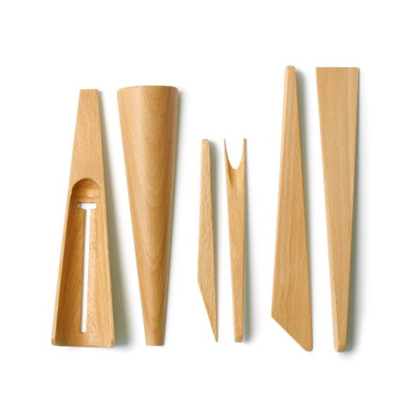 Teroforma Scoop, Stab & Spread Appetizer Tool Set, Beech