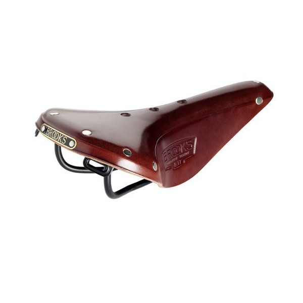 Brooks Saddles Narrow Bicycle Saddle, Antique Black Steel Rails