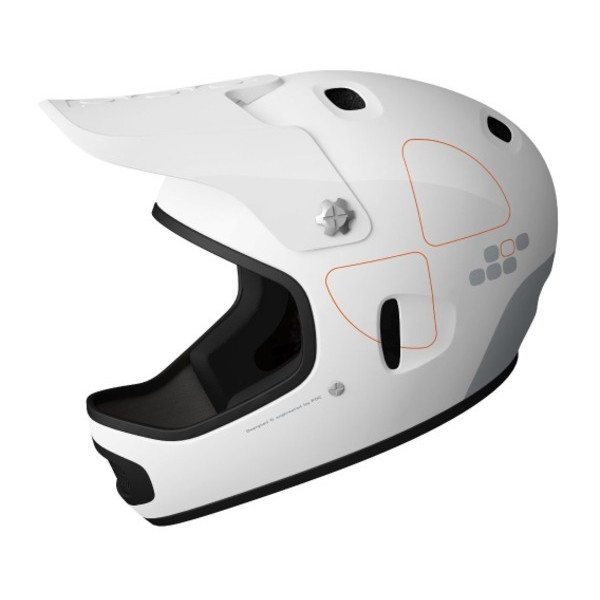 POC Cortex Flow Helmet, Shiny White, Small-Medium