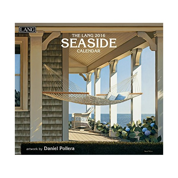 Lang Seaside 2016 Wall Calendar by Daniel Pollera, January 2016 to December 2016, 13.375 x 24 Inches (1001877)